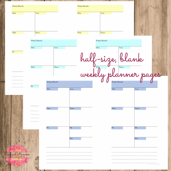 picture about Diy Planner Pages referred to as Weekly Planner Webpages Sunkissed Reminiscences - S with Cl